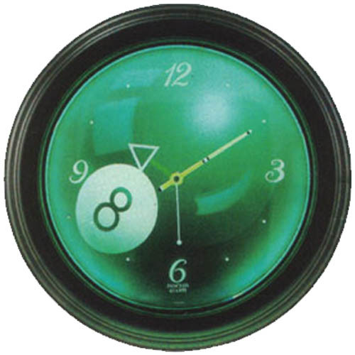 Glowing 8-Ball Neon Clock