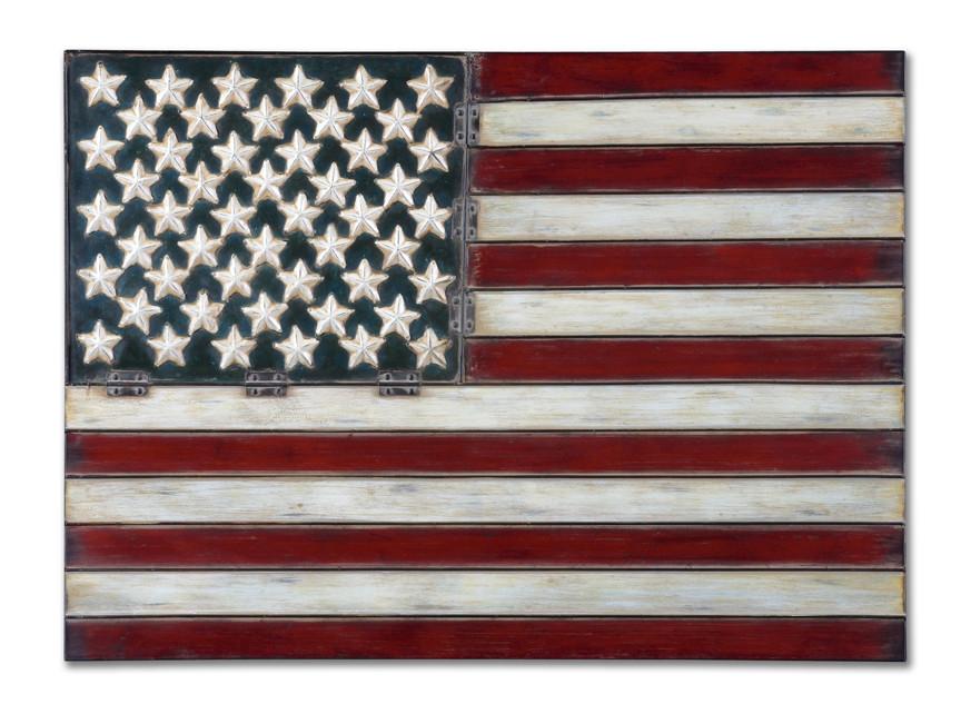 American Flag Metal Wall Art Essentialsinside