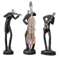 Musicians Sculpture, Set Of 3