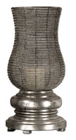 Rickma, Contemporary Silver Woven Metal Globe Candle Holder