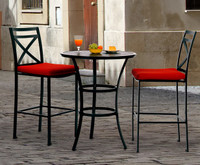 san michele 3 pc patio furniture bar set (39 cushion colors)