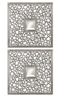 Colusa Squares, Set Of 2 Mirrors