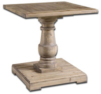Stratford Rustic Pedestal End Table