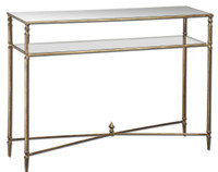 Henzler Glass Console Table