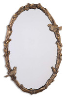 Paza Oval Vine Gold Wall Mirror