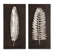 Silver Leaves Wall Art