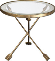 Aero Glass Top Accent Table
