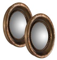 Tropea Rounds Wood Mirror S/2
