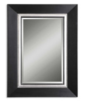 Whitmore Black Wood Mirror
