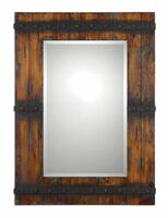 Stockley Rustic Mahogany Mirror