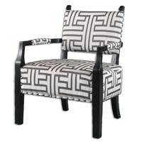 Terica Geometric Accent Chair