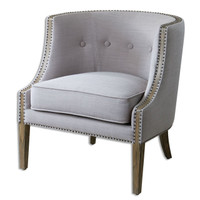Gamila Light Gray Accent Chair
