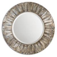Foliage Round Silver Leaf Mirror
