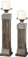 Lican Natural Wood Candleholders, Set/2