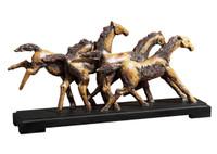 Wild Horses Rustic Sculpture