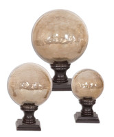 Lamya Glass Globe Finials, Set/3