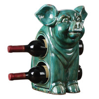 Oink Ceramic Wine Holder
