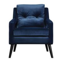 O'Brien Blue Velvet Armchair