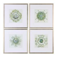 Organic Symbols Print Art S/4