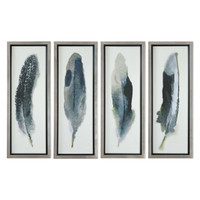 Feathered Beauty Prints, S/4