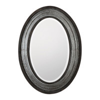 Galina Iron Oval Mirror