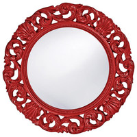 Glendale Mirror - Glossy Red