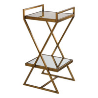 Elling Golden Bronze Accent Table