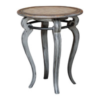 Mariah Round Gray Accent Table