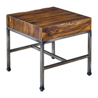 Delsin Wood Slab End Table