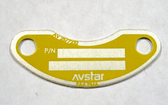 AV2577232 Plate - Identification - Yellow