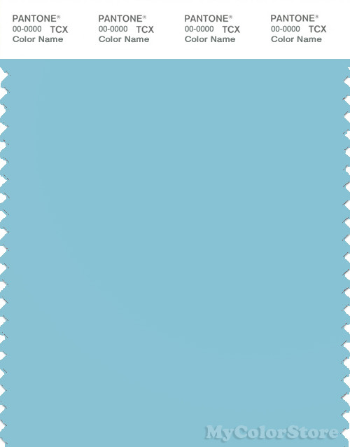 PANTONE SMART 14-4516X Color Swatch Card, Moderate Blue