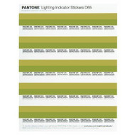 Pantone Lighting Indicator Stickers LNDS-1PK-D65, help determine if your viewing conditions are right for accurate color evaluation, specification and matching