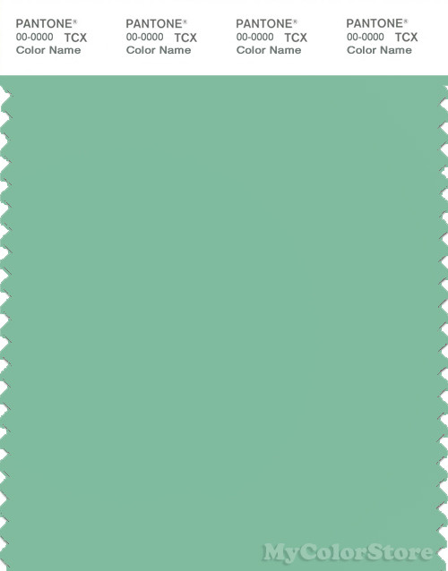 PANTONE SMART 14-6017X Color Swatch Card, Neptune Green