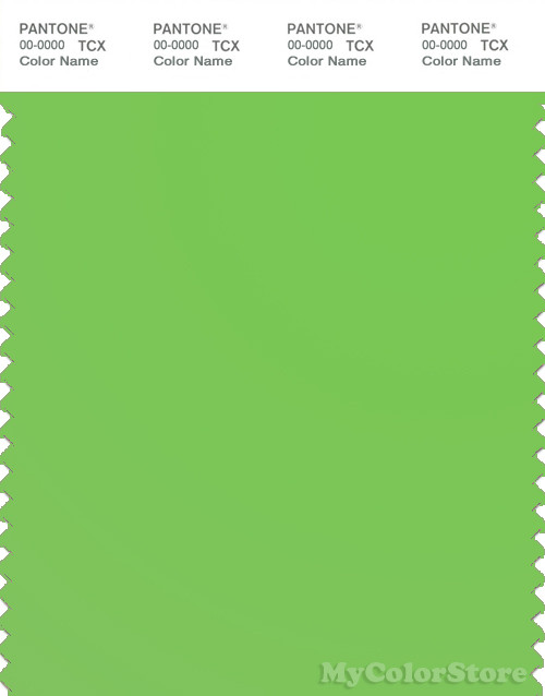 PANTONE SMART 15-0146X Color Swatch Card, Green Flash