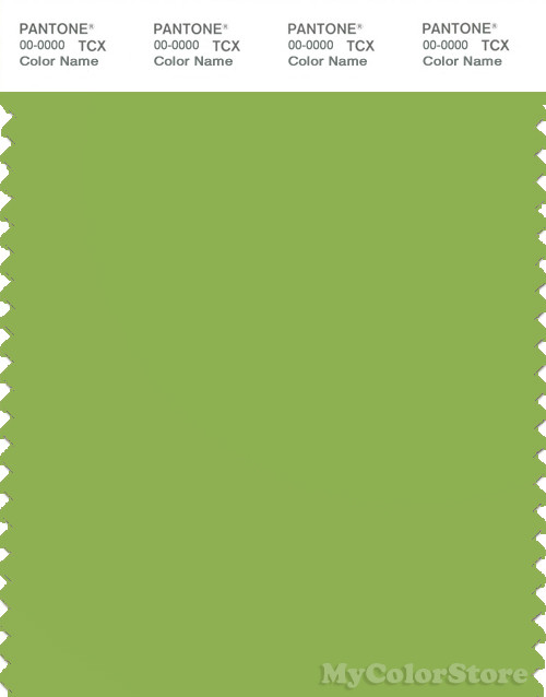 PANTONE SMART 15-0341X Color Swatch Card, Nparrot Green