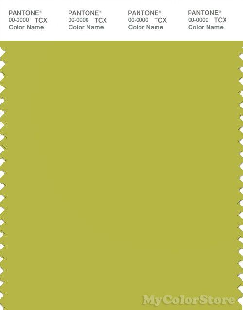 PANTONE SMART 15-0543X Color Swatch Card, Apple Green
