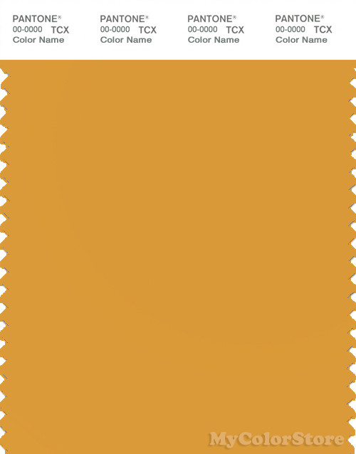 PANTONE SMART 15-1050X Color Swatch Card, Golden Glow