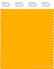PANTONE SMART 15-1062X Color Swatch Card, Gold Fusion