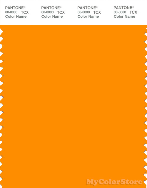 PANTONE SMART 15-1164X Color Swatch Card, Bright Marigold