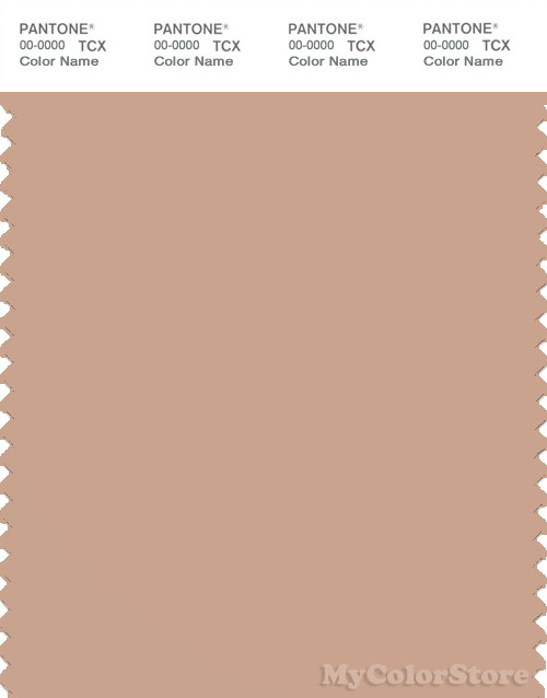 PANTONE SMART 15-1316X Color Swatch Card, Maple Sugar