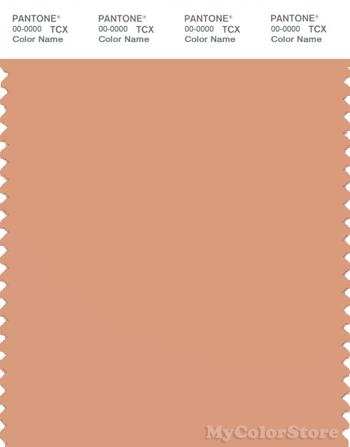 PANTONE SMART 15-1327X Color Swatch Card, Peach Bloom