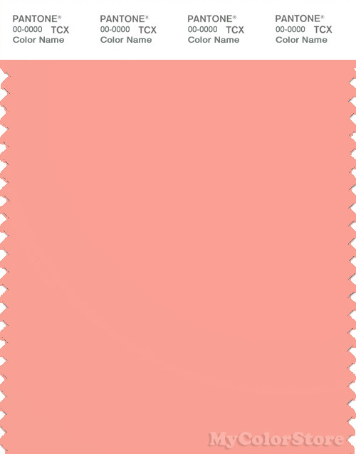 PANTONE SMART 15-1423X Color Swatch Card, Peach Amber