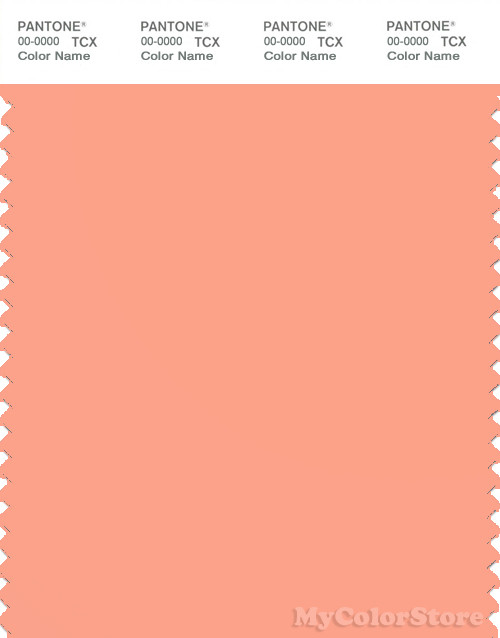 PANTONE SMART 15-1433X Color Swatch Card, Papaya Punch