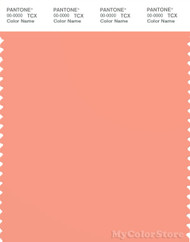 PANTONE SMART 15-1530X Color Swatch Card, Peach Pink