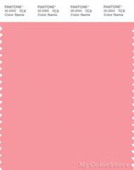PANTONE SMART 15-1821X Color Swatch Card, Flamingo Pink