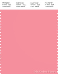 PANTONE SMART 15-1922X Color Swatch Card, Geranium Pink