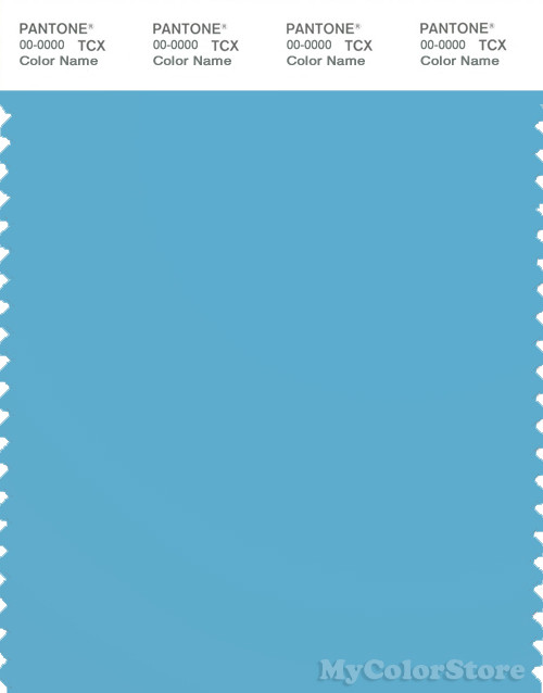 PANTONE SMART 15-4421X Color Swatch Card, Blue Grotto