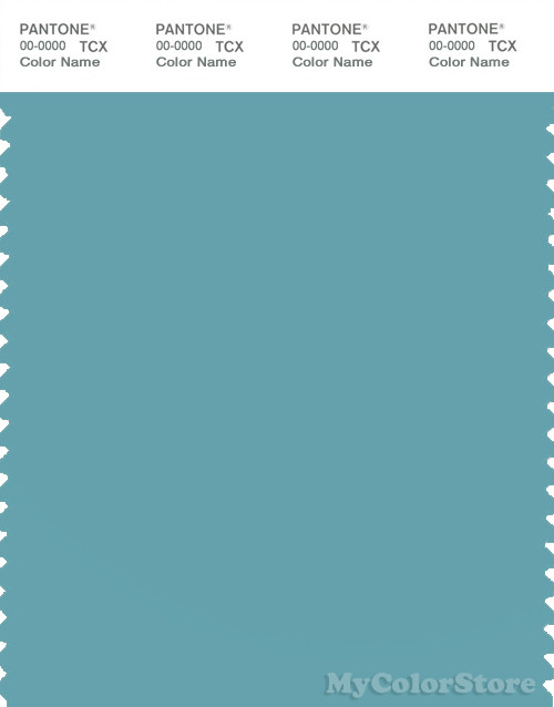 PANTONE SMART 15-4717X Color Swatch Card, Aqua
