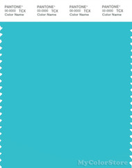 PANTONE SMART 15-4825X Color Swatch Card, Blue Curacao