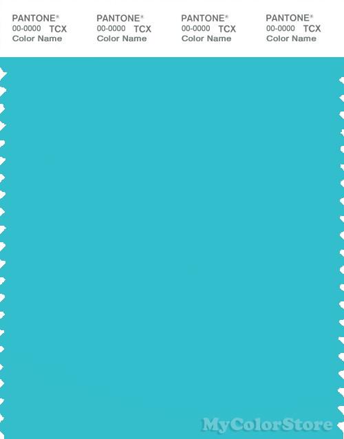 PANTONE SMART 15-4825X Color Swatch Card, Blue Curacao